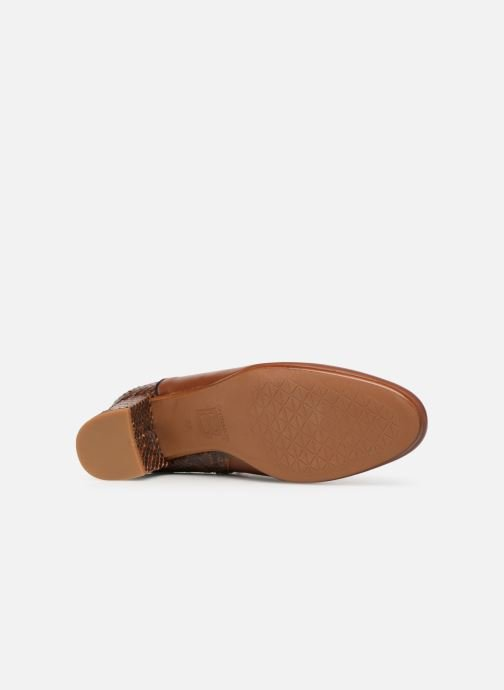 Ankle boots Bensimon Boots Bi-Matiere Brown view from above
