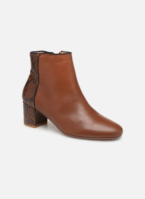 Ankle boots Bensimon Boots Bi-Matiere Brown detailed view/ Pair view