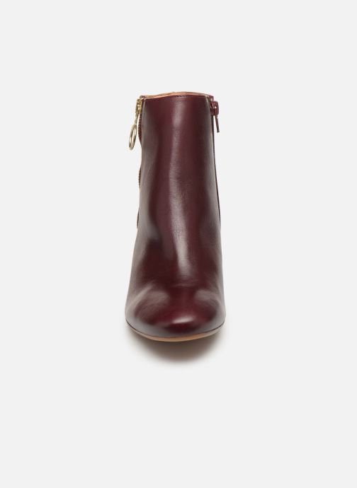 Ankle boots Bensimon Bottines Zippees Burgundy model view