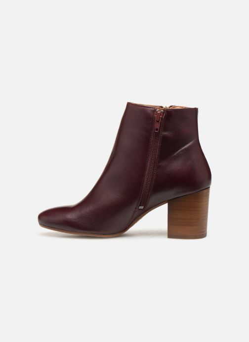Ankle boots Bensimon Bottines Zippees Burgundy front view