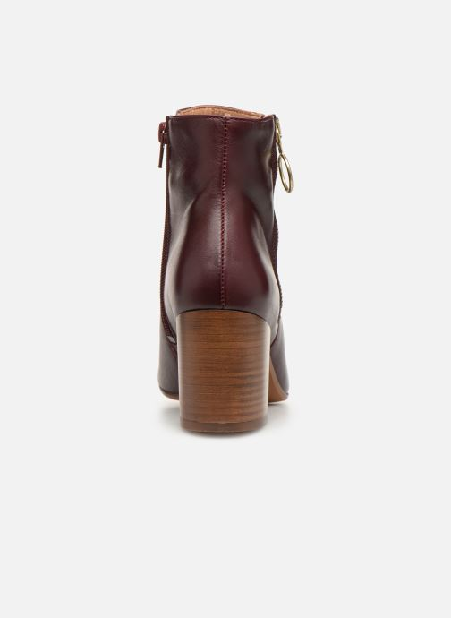 Ankle boots Bensimon Bottines Zippees Burgundy view from the right