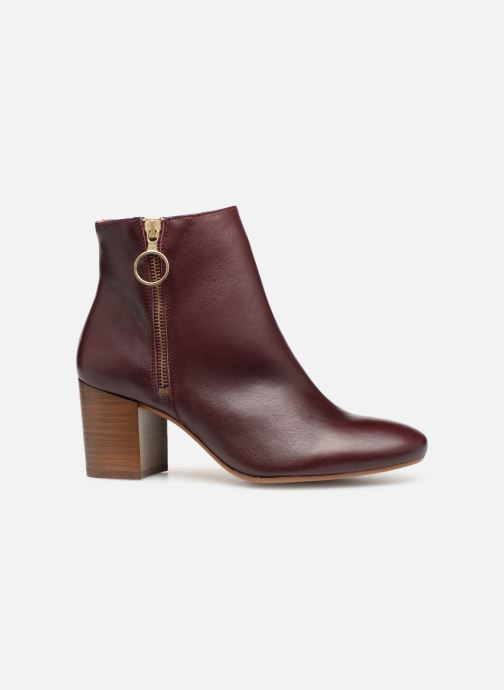 Ankle boots Bensimon Bottines Zippees Burgundy back view