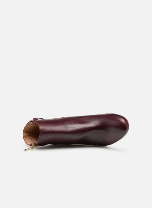 Boots en enkellaarsjes Bensimon Bottines Zippees Bordeaux links