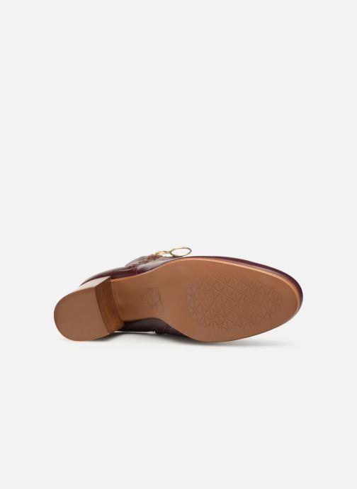Boots en enkellaarsjes Bensimon Bottines Zippees Bordeaux boven