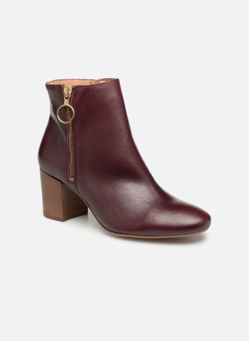 Boots en enkellaarsjes Bensimon Bottines Zippees Bordeaux detail