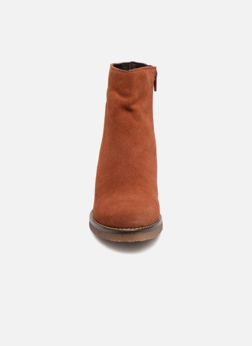 Bottines et boots Bensimon Bottines Talon Crepe Marron vue portées chaussures