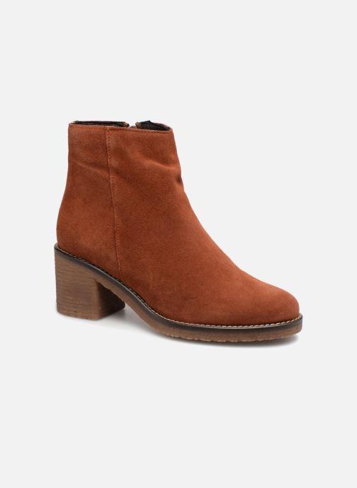 Bottines et boots Bensimon Bottines Talon Crepe Marron vue détail/paire