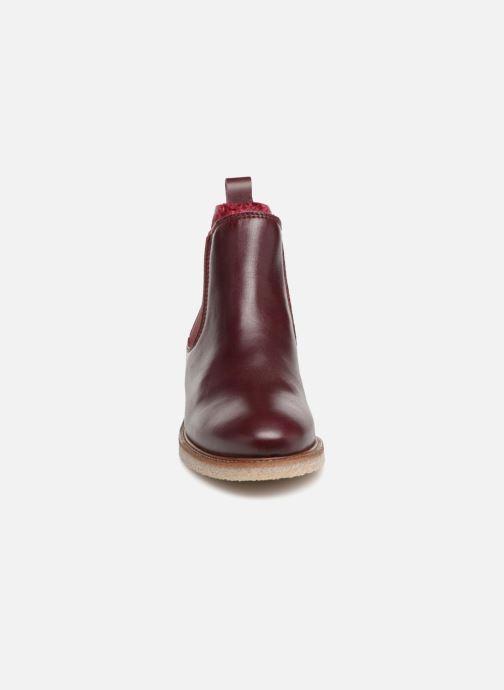 Stivaletti e tronchetti Bensimon Boots Crepe Bordò modello indossato