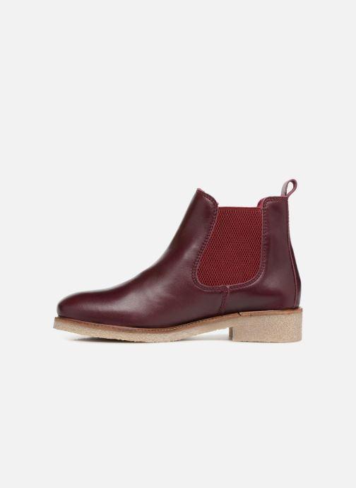 Botines  Bensimon Boots Crepe Vino vista de frente