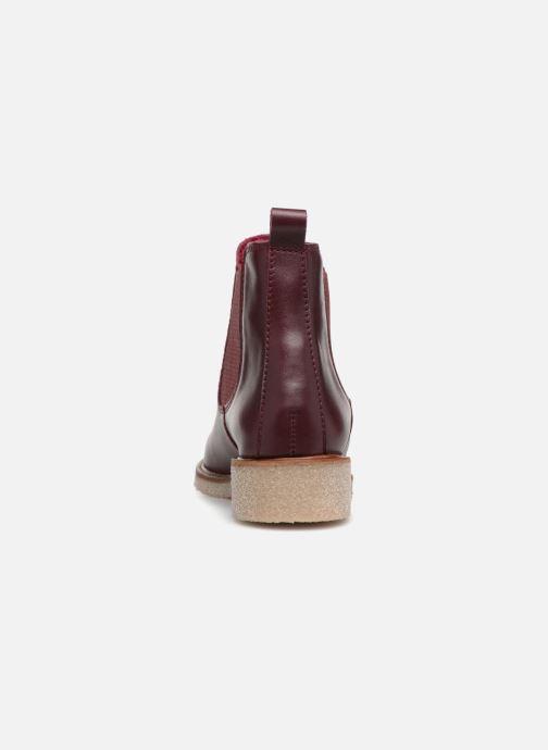 Stivaletti e tronchetti Bensimon Boots Crepe Bordò immagine destra