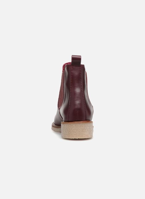 Botines  Bensimon Boots Crepe Vino vista lateral derecha