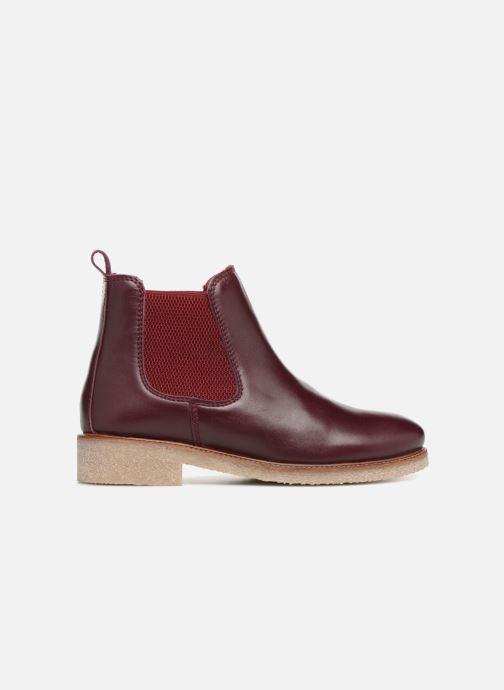Bottines et boots Bensimon Boots Crepe Bordeaux vue derrière