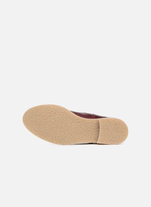 Stivaletti e tronchetti Bensimon Boots Crepe Bordò immagine dall'alto
