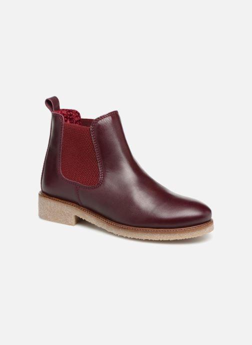 Bottines et boots Bensimon Boots Crepe Bordeaux vue détail/paire