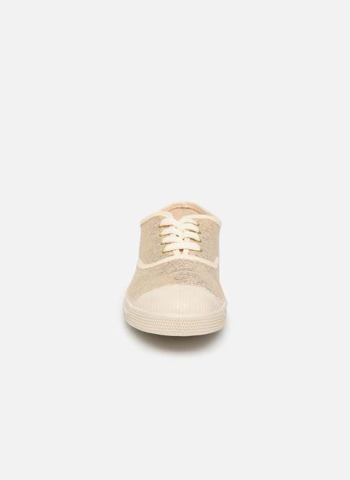 Baskets Bensimon Tennis Lacets Shiny Or et bronze vue portées chaussures