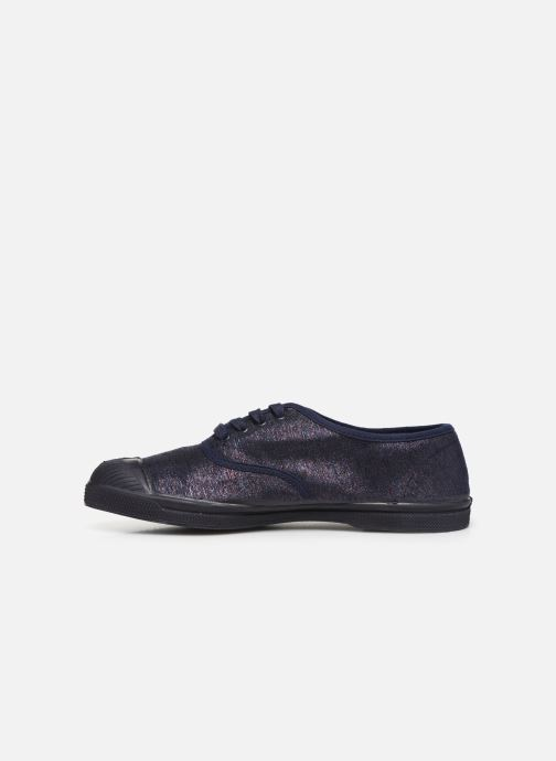Baskets Bensimon Tennis Lacets Shiny Bleu vue face
