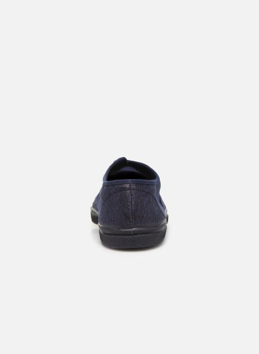 Trainers Bensimon Tennis Lacets Shiny Blue view from the right
