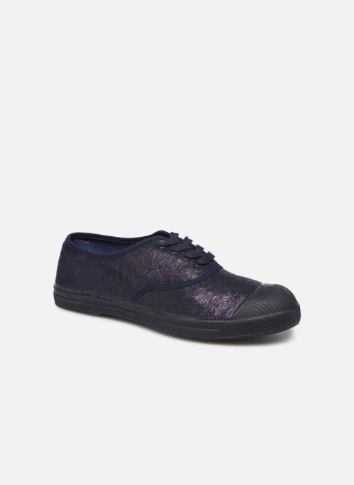 Trainers Bensimon Tennis Lacets Shiny Blue detailed view/ Pair view