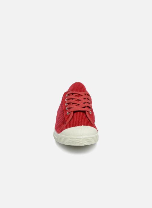 Baskets Bensimon Tennis Romy Corduroy Rouge vue portées chaussures