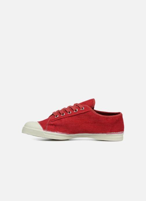 Sneaker Bensimon Tennis Romy Corduroy rot ansicht von vorne