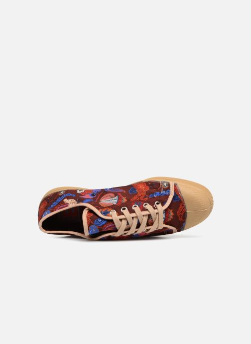 Trainers Bensimon Tennis Romy Perse Burgundy view from the left