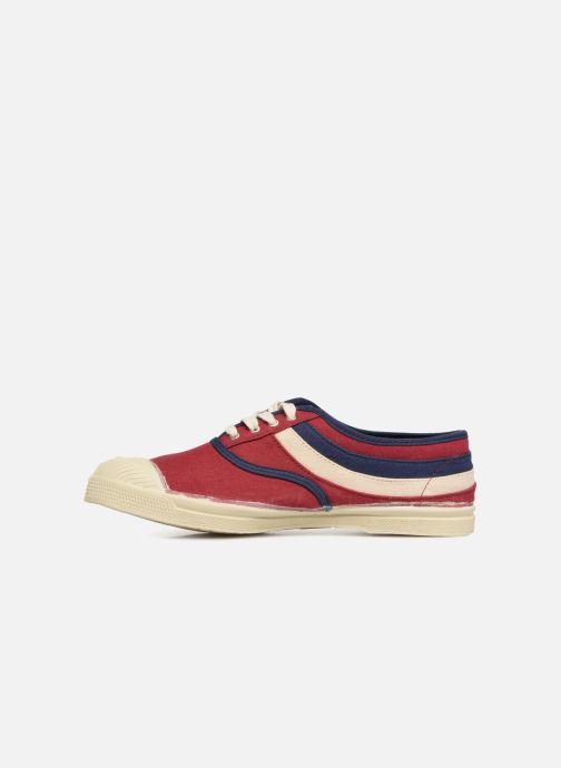 Trainers Bensimon Tennis Waves Burgundy front view