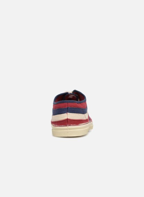 Trainers Bensimon Tennis Waves Burgundy view from the right