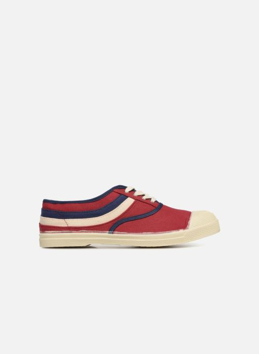 Trainers Bensimon Tennis Waves Burgundy back view