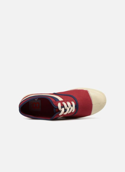 Sneaker Bensimon Tennis Waves weinrot ansicht von links