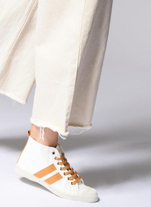 Sneaker Bensimon Stella Bicolore weiß ansicht von unten / tasche getragen
