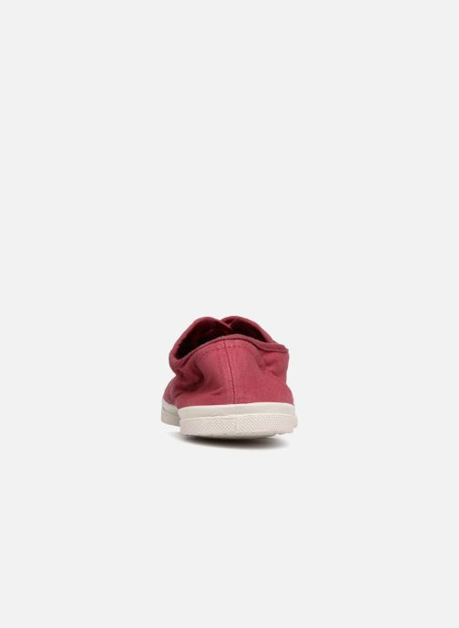 Trainers Bensimon Tennis Lacet Burgundy view from the right