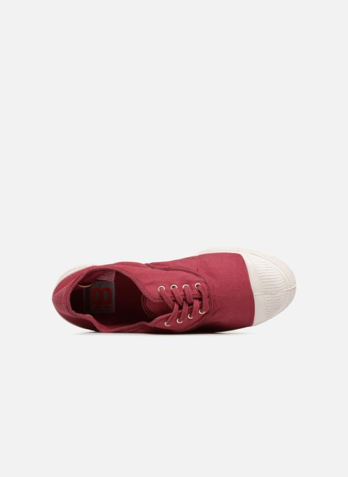 Trainers Bensimon Tennis Lacet Burgundy view from the left