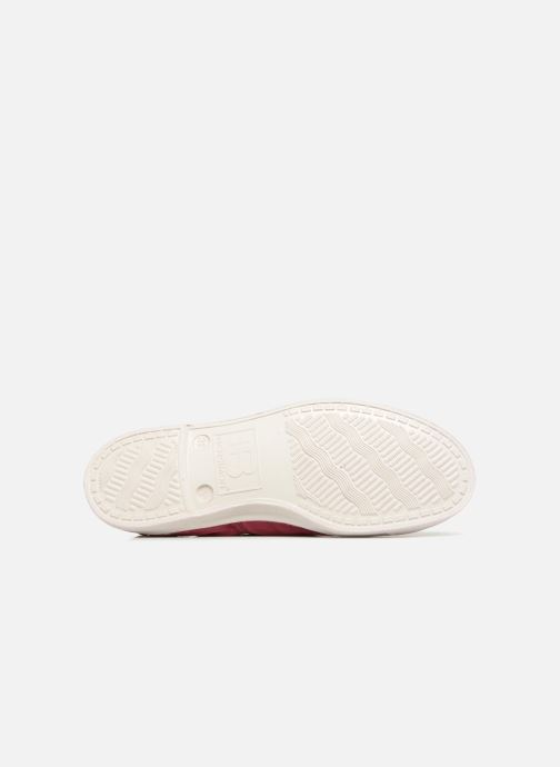 Trainers Bensimon Tennis Lacet Burgundy view from above