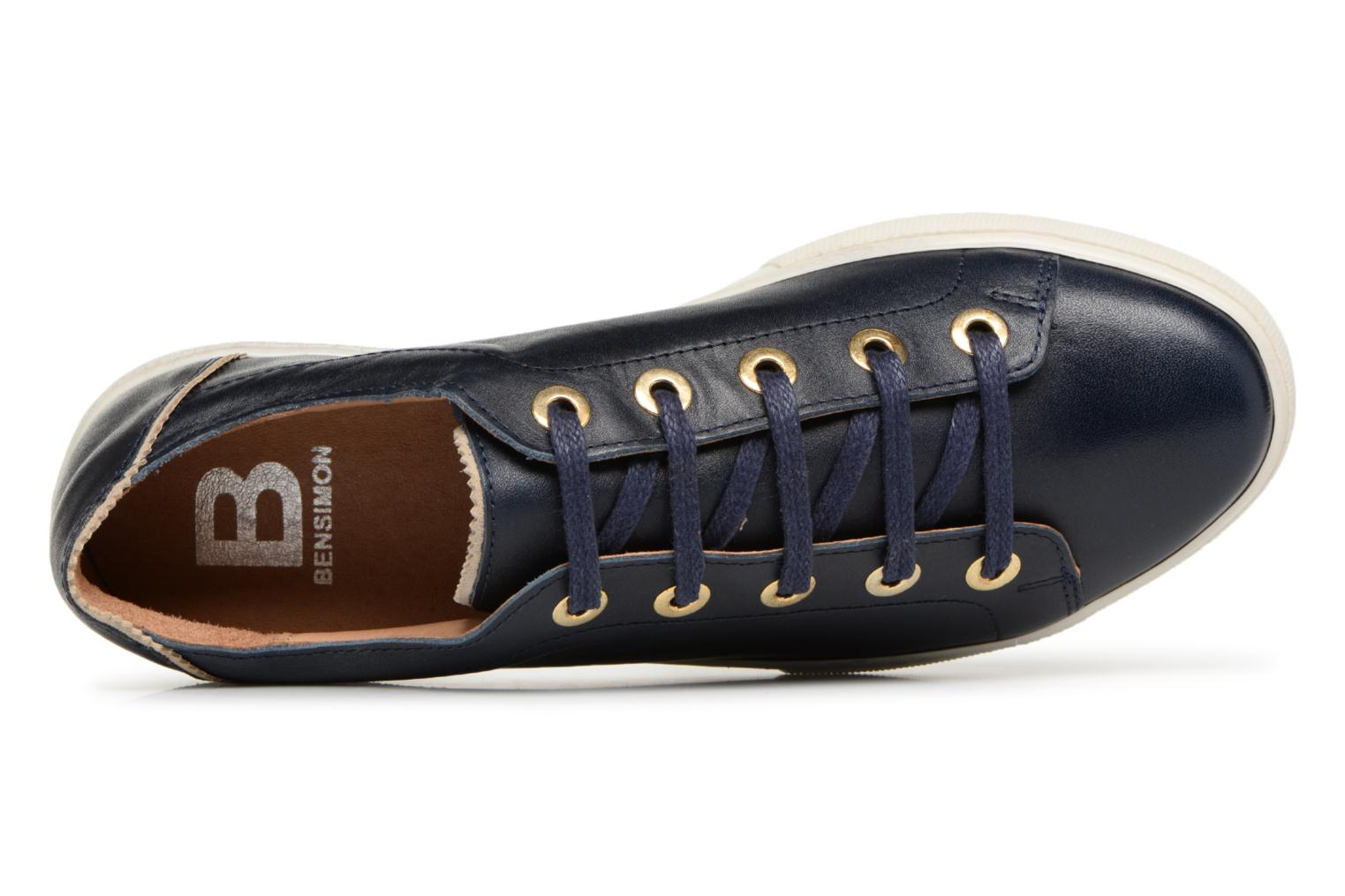 Trainers Bensimon Tennis Lacets Crantees Blue view from the left