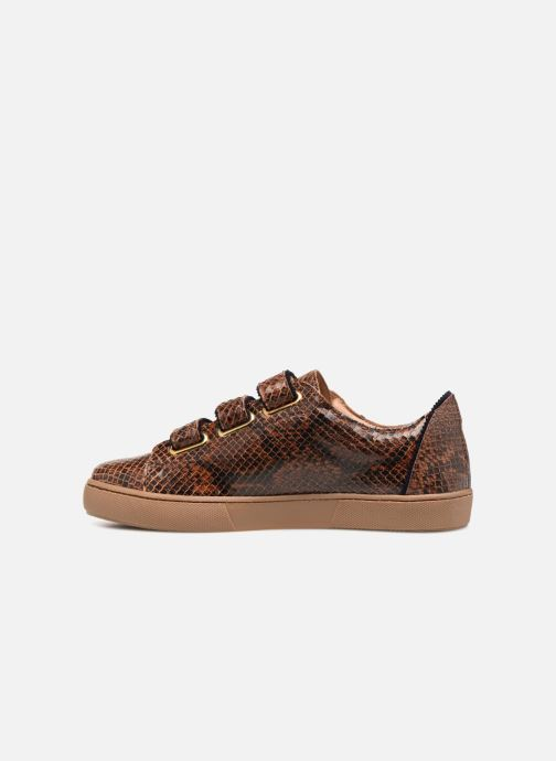 Baskets Bensimon Tennis Scratch Crantee Marron vue face