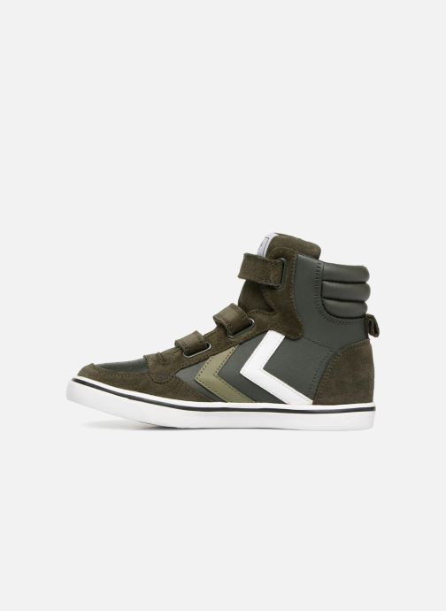Sneakers Hummel Stadil Leather Jr Verde immagine frontale