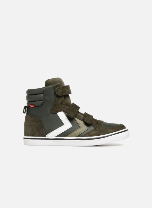 Sneakers Hummel Stadil Leather Jr Verde immagine posteriore