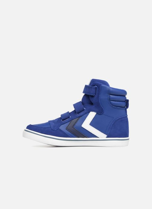 Baskets Hummel Stadil Leather Jr Bleu vue face