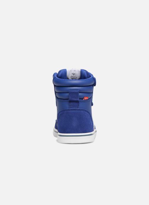 Baskets Hummel Stadil Leather Jr Bleu vue droite