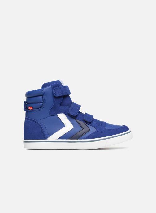 Baskets Hummel Stadil Leather Jr Bleu vue derrière