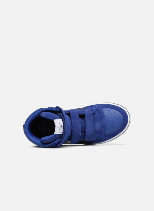 Baskets Hummel Stadil Leather Jr Bleu vue gauche