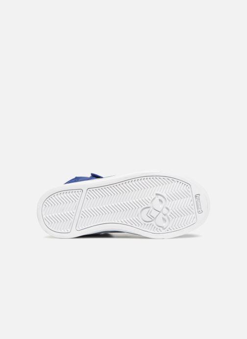 Baskets Hummel Stadil Leather Jr Bleu vue haut