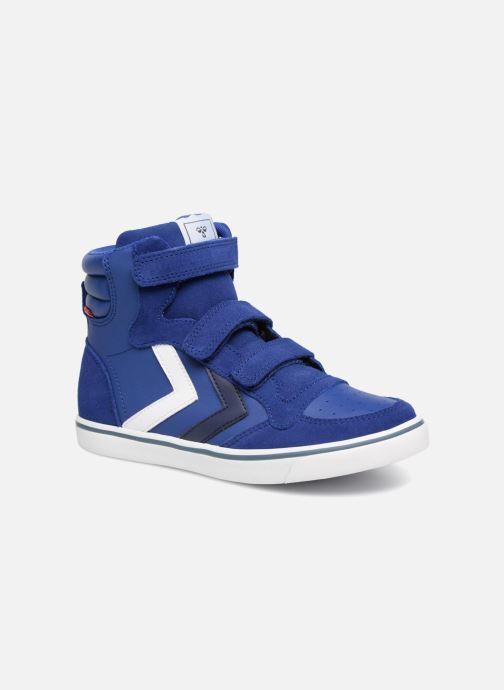 Baskets Hummel Stadil Leather Jr Bleu vue détail/paire