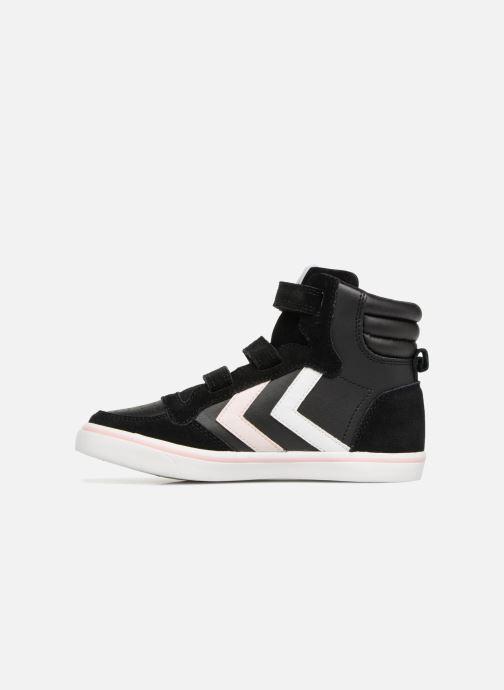 Sneakers Hummel Stadil Leather Jr Zwart voorkant