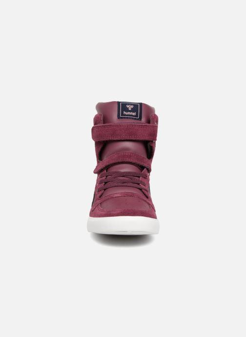 Baskets Hummel Slimmer Stadil Jr Bordeaux vue portées chaussures