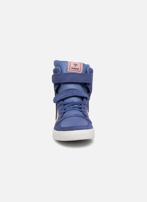 Baskets Hummel Slimmer Stadil Jr Violet vue portées chaussures