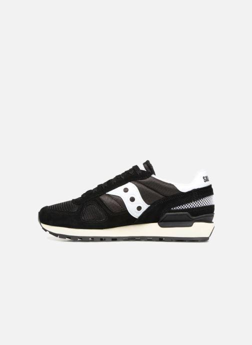 Sneaker Saucony Shadow Originals Vintage schwarz ansicht von vorne