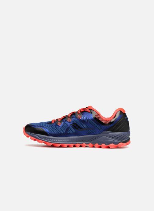 Zapatillas de deporte Saucony Peregrine 8 Azul vista de frente