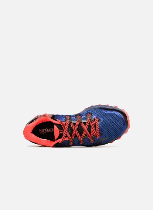 Zapatillas de deporte Saucony Peregrine 8 Azul vista lateral izquierda
