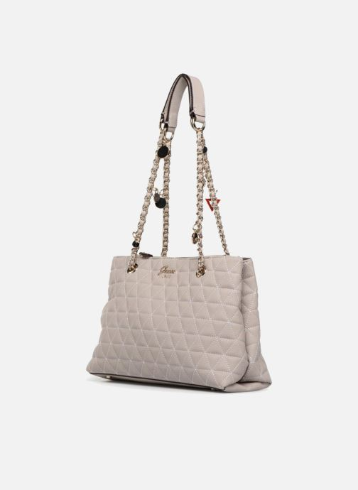 Handtassen Guess Fleur Girlfriend Satchel Beige model